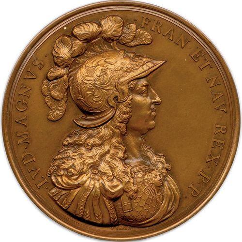 DEUX MEDAILLES DU MEME TYPE DE LOUIS XIV DU GRAVEUR FRANÇOIS VARIN 1674. LVD•MAG…