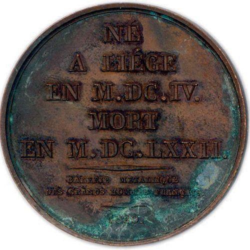 DEUX MEDAILLES EN BRONZE DE JEAN VARIN DU GRAVEUR JACQUES EDOUARD GATTEAUX (1788…