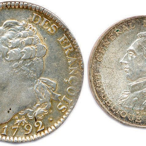 LOUIS XVI PERIODE CONSTITUTIONNELLE Écu d'argent de 6 livres 1792 an 4 A = Paris…