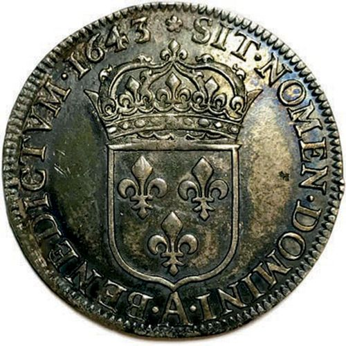 LOUIS XIII 1610 1643 LVDOVICVS•XIII•D•G•FR•ET•NAV•REX. Son buste lauré, cuirassé…