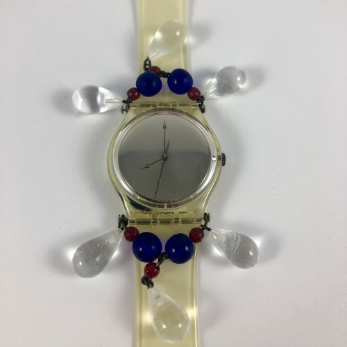 """SWATCH  Vers 1992.  Réf: GZ125.  Montre bracelet modèle """"Chandelier Christmas '9…"""