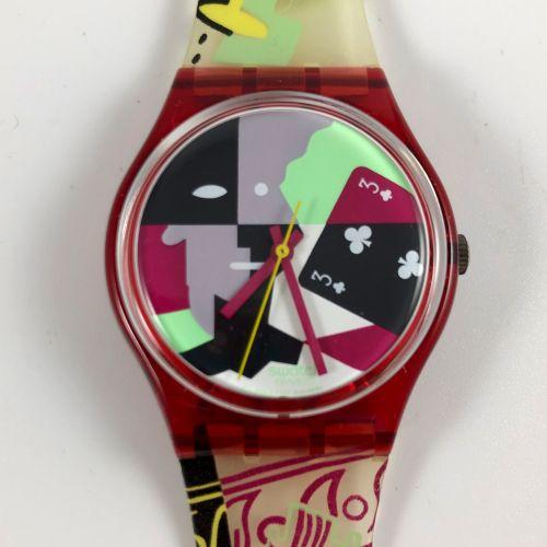 """特警队 约1991年。 编号:GR110。 立体派说唱 """"模型腕表。 石英机芯。 崭新的状态,原盒。 直径:34毫米。 为了更好地保存,购买时将电池取出,不包括…"""
