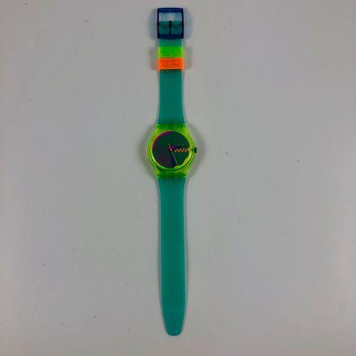 """SWATCH  Vers 1993.  Réf: GK169.  Montre bracelet modèle """"Perspective"""".  Mouvemen…"""