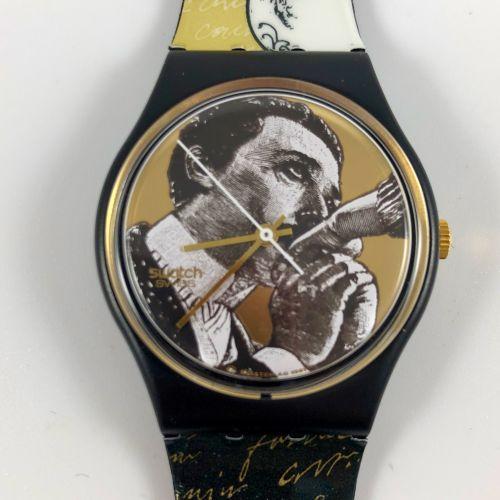 """SWATCH Vers 1990. Réf: GB148. Montre bracelet modèle """"Baiser d'Antan"""". Mouvement…"""