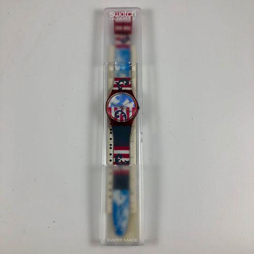 """SWATCH  Vers 1990.  Réf: GR109.  Montre bracelet modèle """"The Boss"""".  Mouvement q…"""