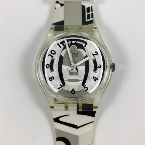 """SWATCH Vers 1993. Réf: GK169. Montre bracelet modèle """"Perspective"""". Mouvement qu…"""