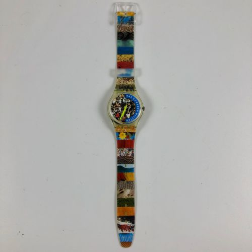 "SWATCH Vers 1992. Réf: GZ126. Montre bracelet modèle ""People Zermatt 27/09/92"". …"