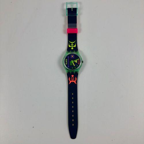"""SWATCH Vers 1992. Réf: GG113. Montre bracelet modèle """"Stahlefish"""". Mouvement qua…"""