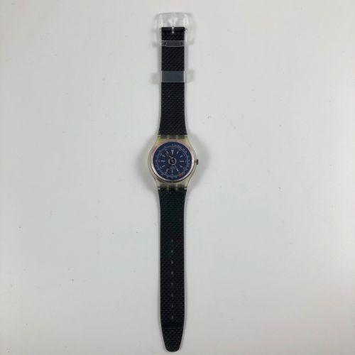 """SWATCH Vers 1991. Réf: GK117. Montre bracelet modèle """"Turbine"""". Mouvement quartz…"""