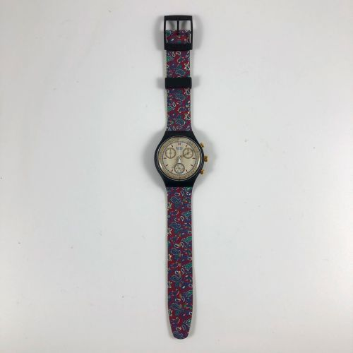 "SWATCH  Vers 1992.  Réf: SCB108.  Montre bracelet type chronographe modèle ""Awar…"