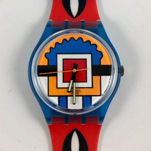 """SWATCH Vers 1993. Réf: GN129. Montre bracelet modèle """"Paella"""". Mouvement quartz.…"""