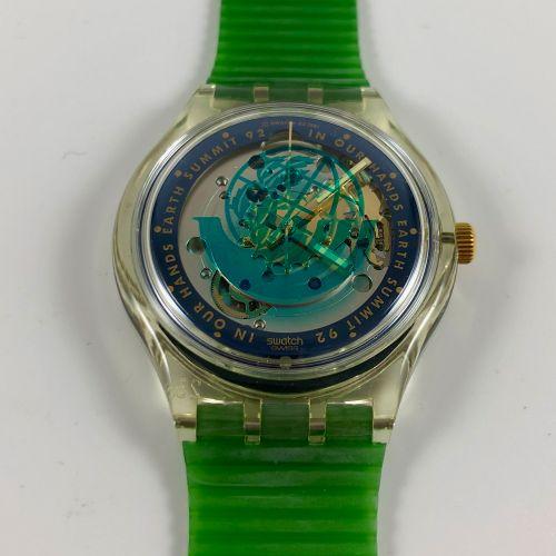 "SWATCH Vers 1992. Réf: SAK102. Montre bracelet type chronographe modèle ""Time To…"