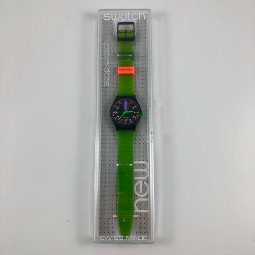 """特警队  约1992年。  编号:SSB100。  停表模型 """"Jess Rush""""。  石英机芯。  崭新的状态,原盒。  直径:34毫米。  为了更好地保存…"""
