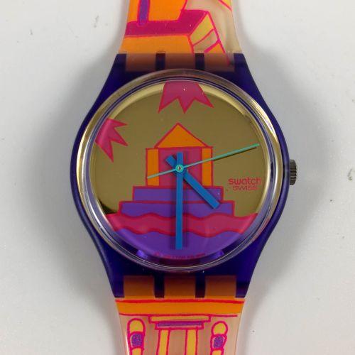 """SWATCH Vers 1991. Réf: GV103. Montre bracelet modèle """"Rara Avis"""". Mouvement quar…"""