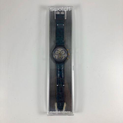 "SWATCH  Vers 1991.  Montre bracelet type chronographe modèle ""Timeless Zone"".  M…"