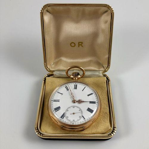 Gousset Anonyme Vers 1860. Montre de gousset en or jaune750/1000, boitier rond, …