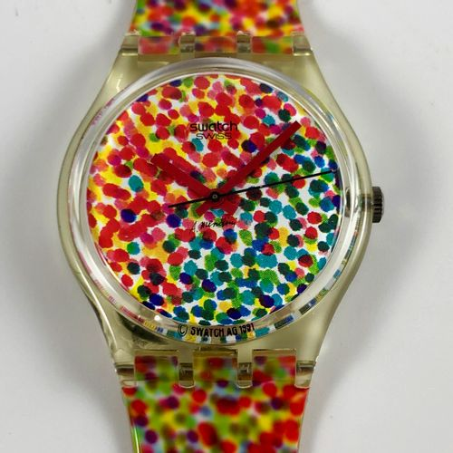 "SWATCH Vers 1992. Montre bracelet modèle ""Lots of Dots n°2 Swatch Collector's 19…"