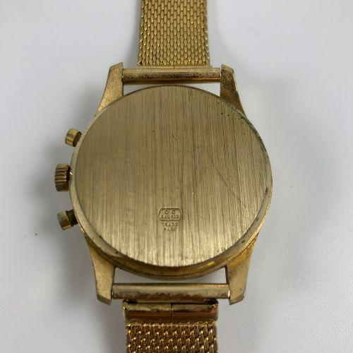Lings 21的价格。计时码表。赤褐色表盘,阿拉伯数字和指挥棒标记。计时码表计数器位于9点钟方向。手动防磁机芯。钢制表带。未修订。直径37毫米。 长度:24.…