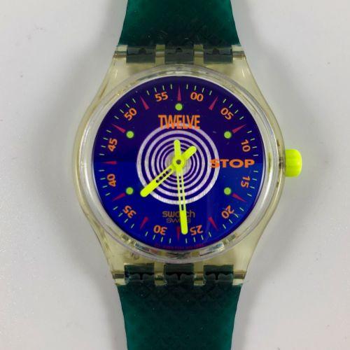 """SWATCH  Vers 1993.  Réf: SSK101.  Montre bracelet type stop watch modèle """"Orolog…"""