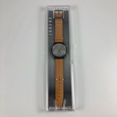 "SWATCH  Vers 1991.  Réf: SCM101.  Montre bracelet type chronographe modèle ""Siri…"