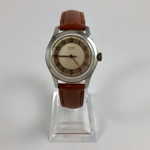 FIAT Vers 1950 Montre signée fiat ébauche fiat boitier en acier, cadran couleur…