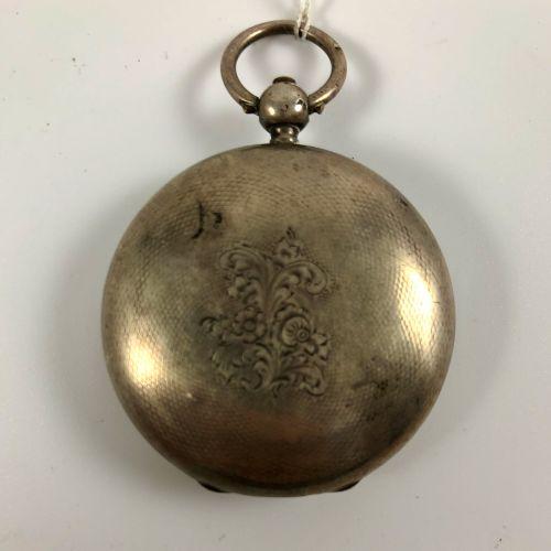 CHAMBELAIN A RHEINS Montre de gousset coq à clapet XVIII/XIXe siècle En argent, …
