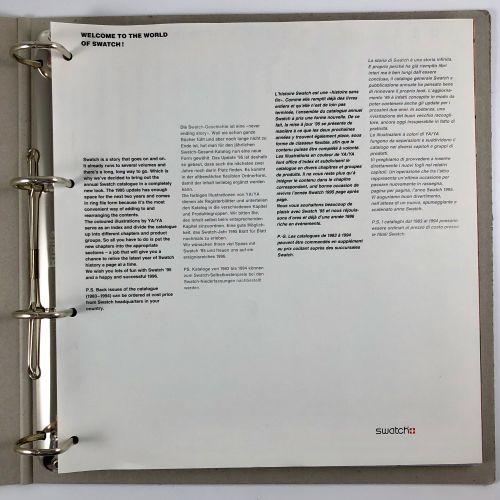 Livre classeur Swatch 1995 1997