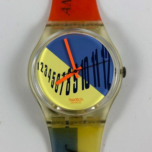 """特警队 约1992年。 编号:GK131。 排版师 """"腕表。 石英机芯。 崭新的状态,原盒。 直径:34毫米。 为了更好地保存,购买时将电池取出,不包括在内。"""