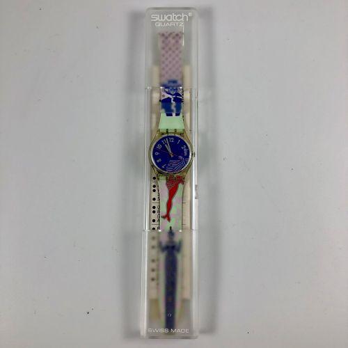 """SWATCH Vers 1990. Réf: GK147. Montre bracelet modèle """"Gruau"""". Mouvement quartz. …"""
