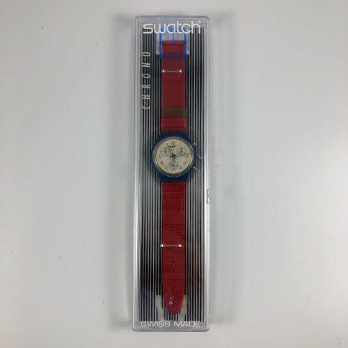 "SWATCH  Vers 1992.  Réf: SCN103.  Montre bracelet type chronographe modèle ""John…"