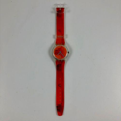 """SWATCH  Vers 1990.  Réf: GK240.  Montre bracelet modèle """"Zerkon"""".  Mouvement qua…"""
