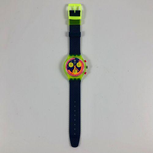 "SWATCH  Vers 1991.  Réf: SCJ101.  Montre bracelet type chronographe modèle ""Gran…"