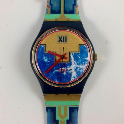 """特警队 约1991年。 编号:GN114。 火烈鸟 """"腕表。 石英机芯。 崭新的状态,原盒。 直径:34毫米。 为了更好地保存,购买时将电池取出,不包括在内。"""