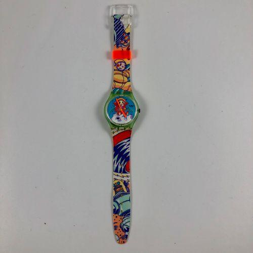 """SWATCH Vers 1990. Réf: GG118. Montre bracelet modèle """"Yuri"""". Mouvement quartz. E…"""