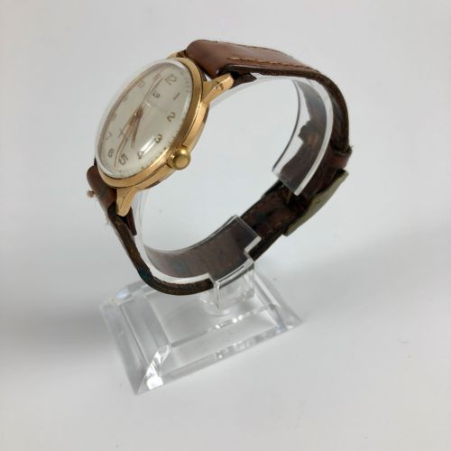 LIP R23 Vers 1960. Réf: 3040XX. Montre bracelet en plauqé or rose et acier, boit…