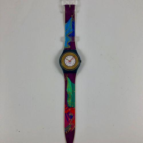 """特警队 大约在1993年。 编号:GG119。 型号为 """"Palco """"的腕表。 石英机芯。 崭新的状态,原盒。 直径:34毫米。 为了更好地保存,购买时将电池…"""