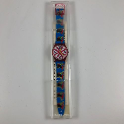 """SWATCH  Vers 1992.  Réf: LB129.  Montre bracelet modèle """"Investment"""".  Mouvement…"""