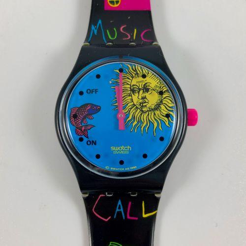 """SWATCH Vers 1992. Réf: SLB101. Montre bracelet modèle """"Europe In Concert"""". Mouve…"""