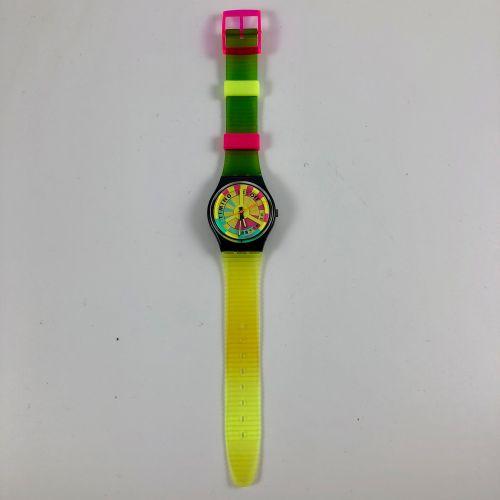 """SWATCH Vers 1992. Réf: GB721. Montre bracelet modèle """"World Record"""". Mouvement q…"""