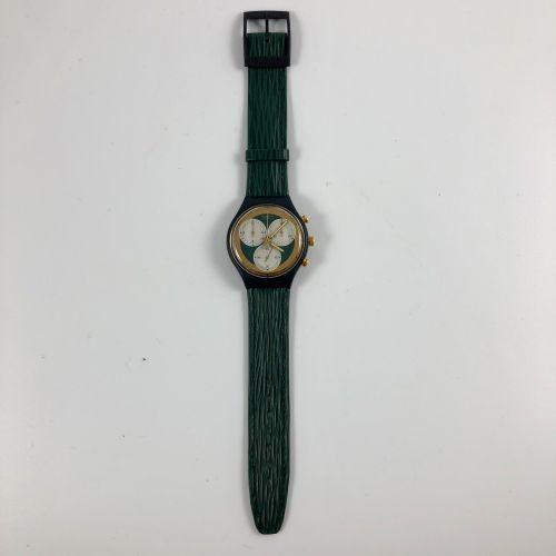 """SWATCH Vers 1990. Réf: SCB107. Montre bracelet type chronographe modèle """"Rollerb…"""