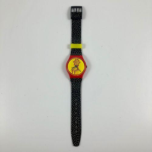 """特警队 约在1993年。 编号:GR115。 手表型号 """"Dotchair""""。 石英机芯。 崭新的状态,原盒。 直径:34毫米。 为了更好地保存,购买时将电池取…"""