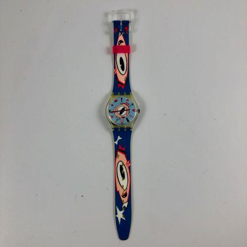 """SWATCH Vers 1991. Réf: GK139. Montre bracelet modèle """"Gulp"""". Mouvement quartz. E…"""