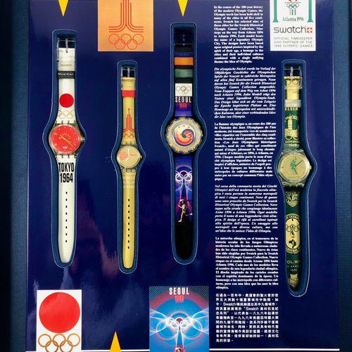 "特警队  约1995年。  编号:SZ802。  一套9只限量版腕表 ""For Honored Glory Centennial Olympic games A…"