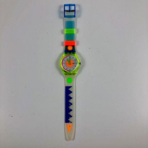 """SWATCH Vers 1990. Réf: GN122. Montre bracelet modèle """"Artic Star"""". Mouvement qua…"""