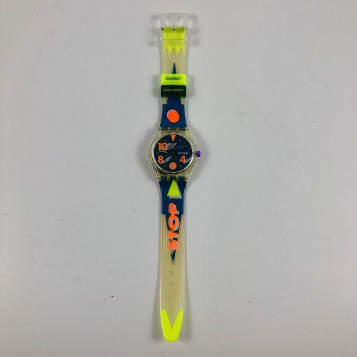 """SWATCH  Vers 1993.  Réf: SSK102.  Montre bracelet type stop watch modèle """"Movime…"""