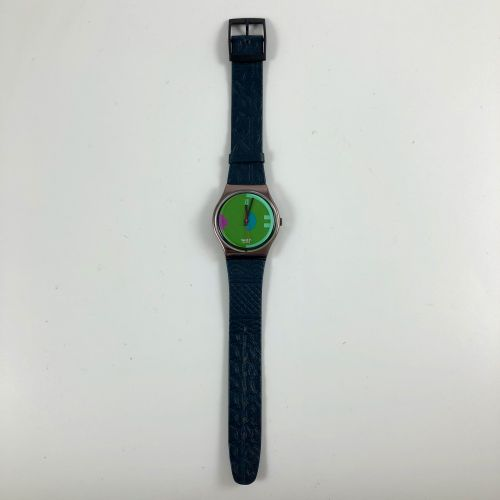 """SWATCH Vers 1990. Réf: GX116. Montre bracelet modèle """"Johnny Guitar"""". Mouvement …"""