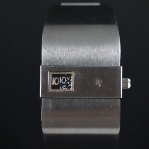 "LIP 弗朗索瓦 德 巴什马科夫亲王 1970年左右。 编号:3793。 由François de Baschmakoff王子设计的男女通用的 ""跳时 ""钢表。…"