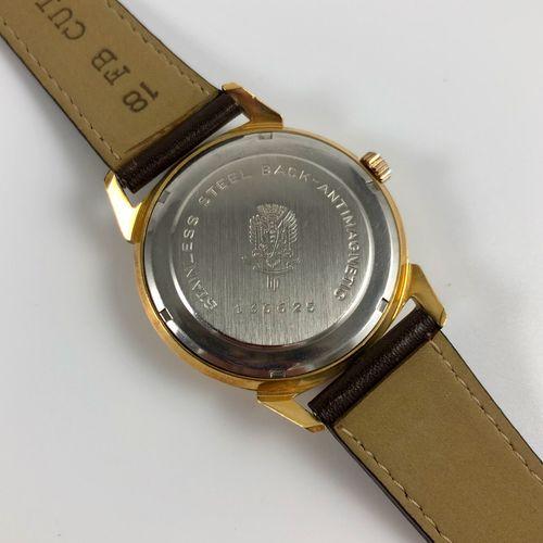 LIP Incabloc NOS Vers 1970. Réf: 136XXXX. Montre bracelet en plaqué or jaune, ca…