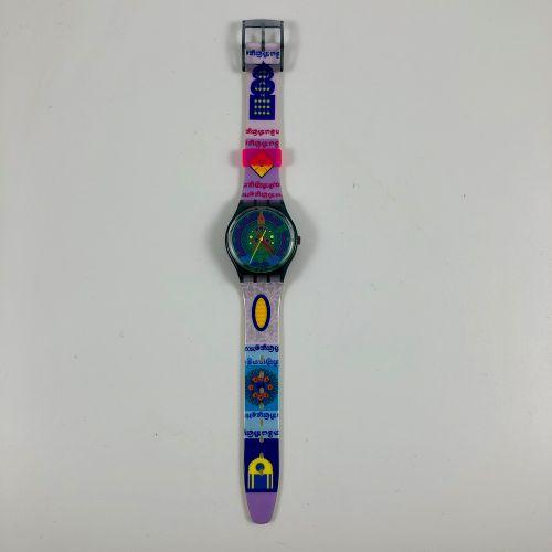 """SWATCH Vers 1993. Réf: GM111. Montre bracelet modèle """"Sari"""". Mouvement quartz. E…"""