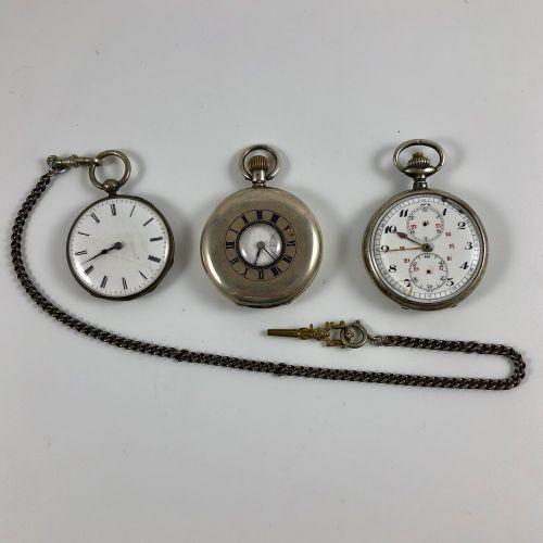 第一个是古塞特 瓦赫隆,编号:17692。银质怀表,在表壳背面刻有字。珐琅表盘,彩绘索引,罗马数字,铁路。带钥匙的手动上弦机械机芯。圆筒式擒纵机构。钥匙提供在链…